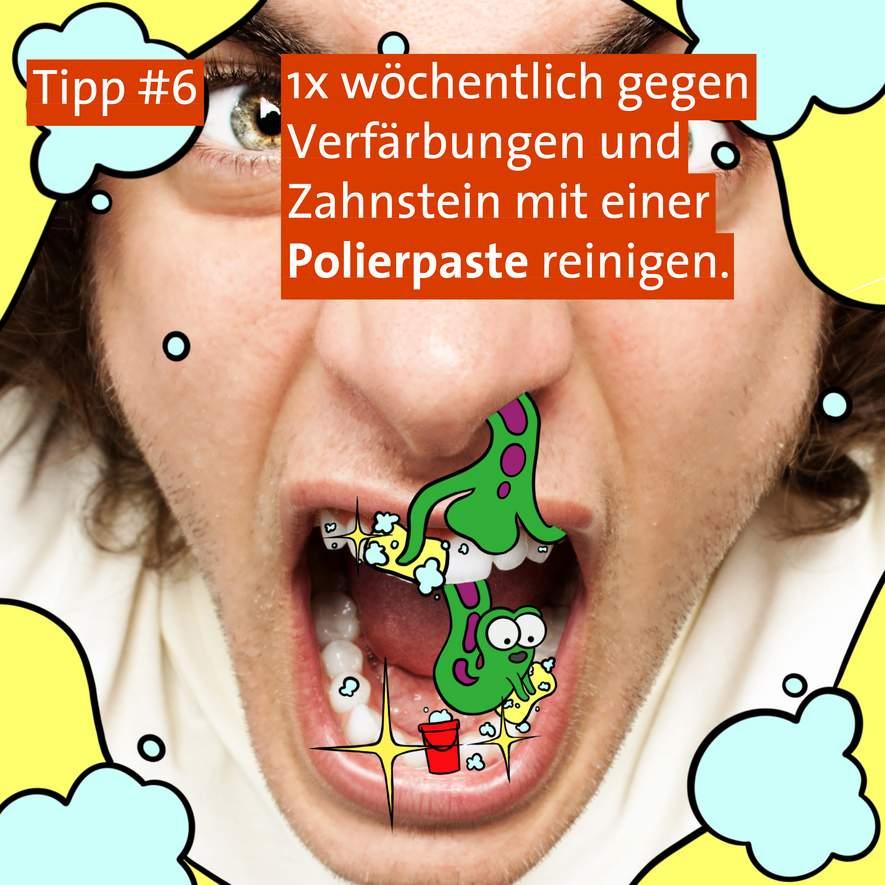 Tipp #6: Zahnpolierpaste für zu Hause
